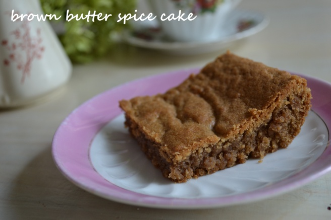 brown butter spice cake